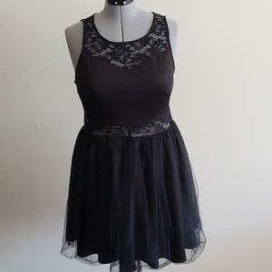 Black lace and tulle Forever 21 Plus Dress